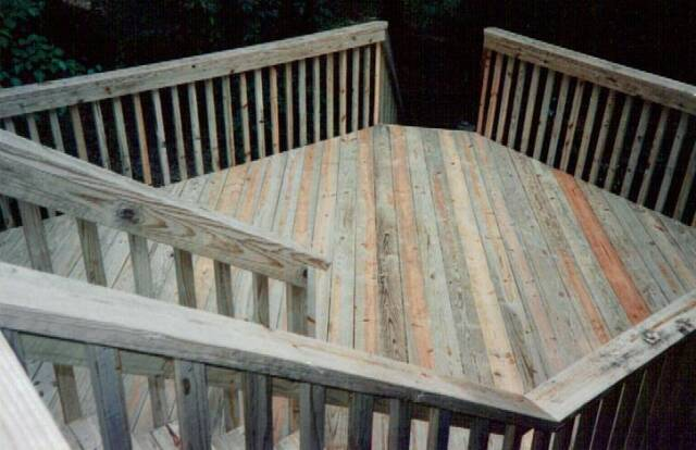 Beetle Kill Wood Deck